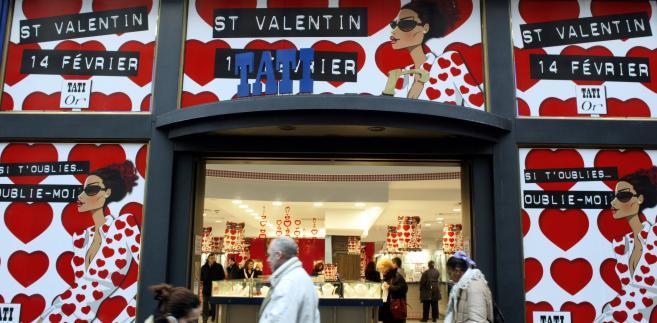 Francja, sklep z biżuterią w Paryżu