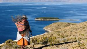Boliwia - Isla del Sol d jeziorem Titicaca