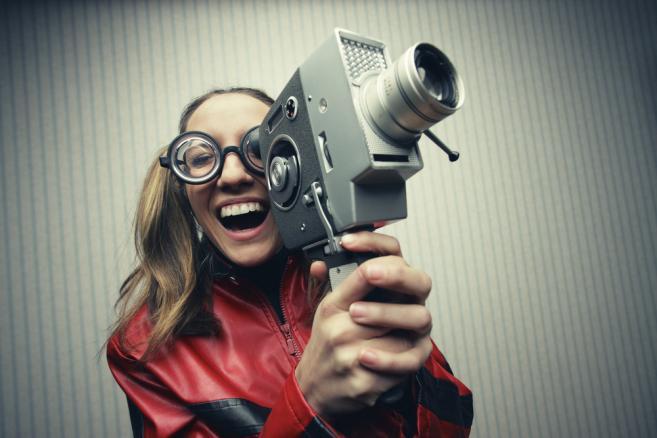 Kobieta z kamerą