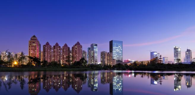 Shenzhen, widok na centrum finansowe