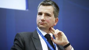 Minister finansów Mateusz Szczurek podczas spotkania w Instytucie Finansów Międzynarodowych (IIF) w Londynie, 5.06.2014 (3)