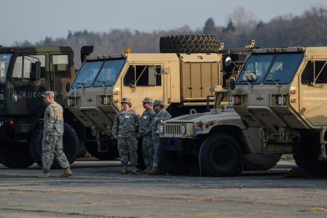 Pokaz sprzętu oraz uzbrojenia baterii Patriot odbył się, 21 bm. w Sochaczewie. <br><br>(cat) PAP/Jakub Kamiński
