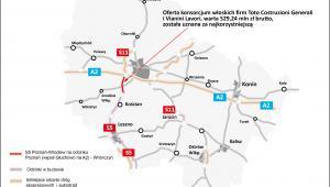 Wielkopolska - odcinek S5 pod Poznaniem - Mapa