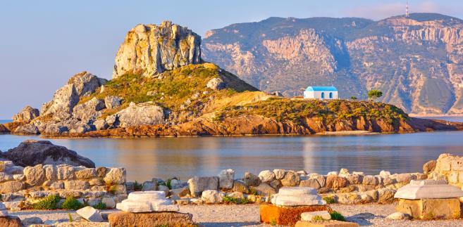 widok z okolic wyspy Kos, Grecja