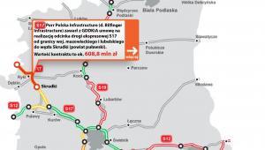 Droga ekspresowa S17 od granicy województw mazowieckiego i lubelskiego do węzła Skrudki