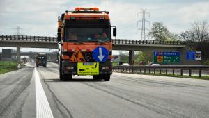 Autostrada A4 pod Opolem. Oznakowanie poziome