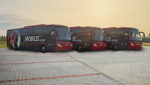 Mobilis obsługuje 110 tras dalekobieżnych (na zdjęciu Scania), a także trasy na średnich dystansach i lokalne