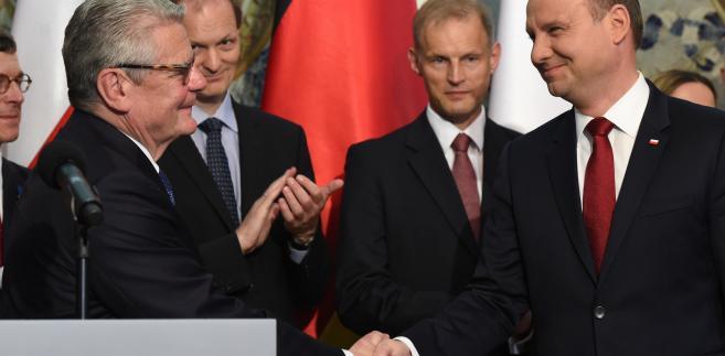 Prezydent RP Andrzej Duda i prezydent RFN Joachim Gauck,