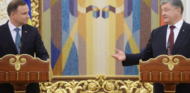 Prezydent Andrzej Duda i prezydent Ukrainy Petro Poroszenko
