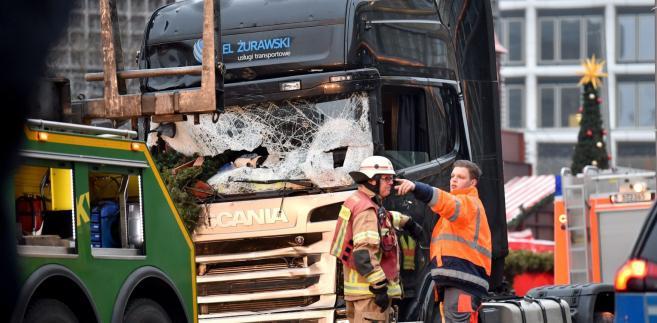 CIężarówka, której użył zamachowiec