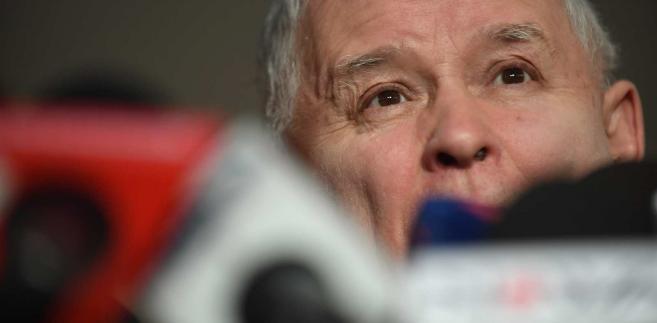 Prezes Prawa i Sprawiedliwości Jarosław Kaczyński podczas konferencji prasowej w Sejmie, 11 bm.  PAP Bartłomiej Zborowski