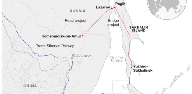 Projekt mostu łączącego Rosję z wyspą Sachalin