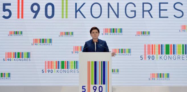Premier Beata Szydło przemawia podczas Kongresu 590