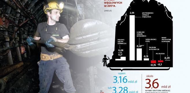 Gornictwo - wynik finansowe firm węglowych