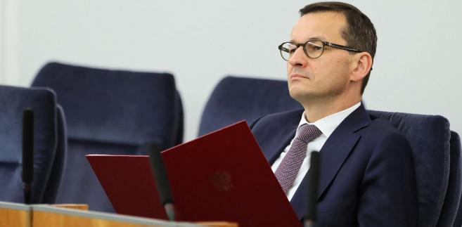 premier Mateusz Morawiecki w Senacie