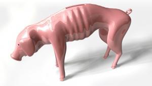 skarbonka, wychudzona świnka