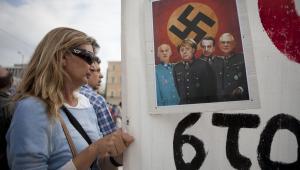 Ateny, wizyta Angeli Merkel – tak Grecy witali Kanclerz Niemiec