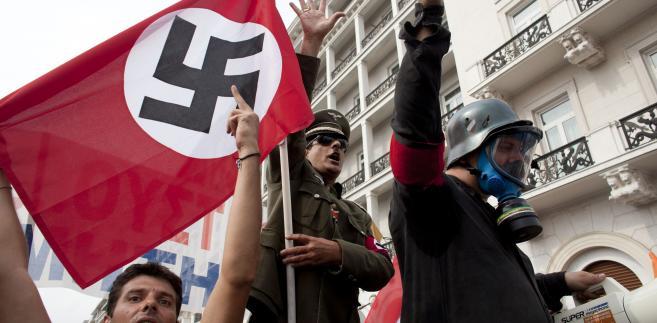 Protesty w Grecji przeciw Angeli Merkel