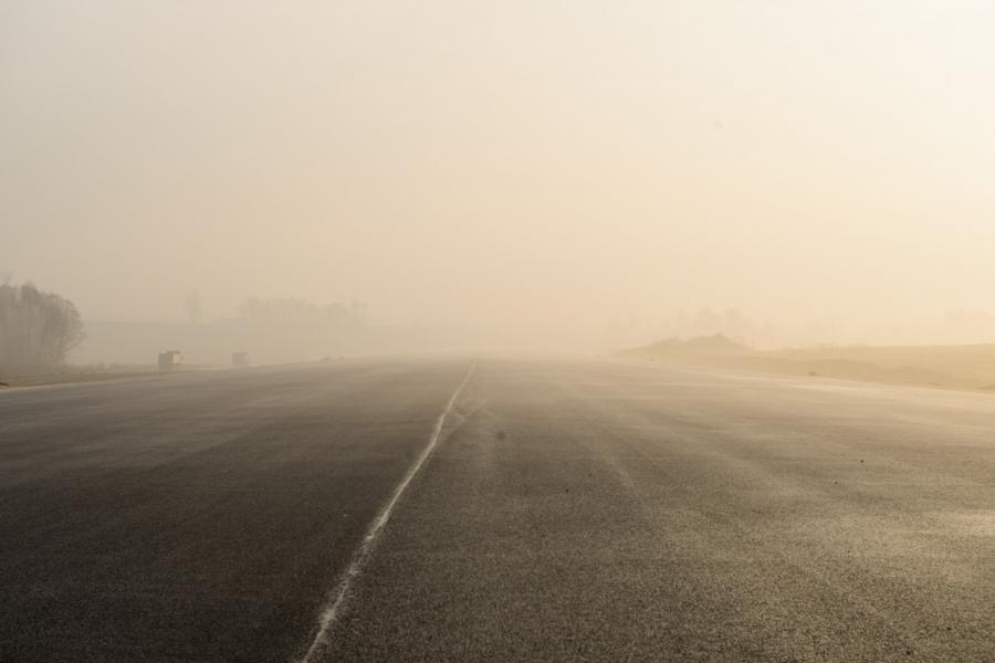 Lotnisko o świcie