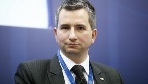 Minister finansów Mateusz Szczurek podczas spotkania w Instytucie Finansów Międzynarodowych (IIF) w Londynie, 5.06.2014 (2)