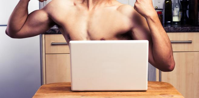 internet, komputer, mężczyzna