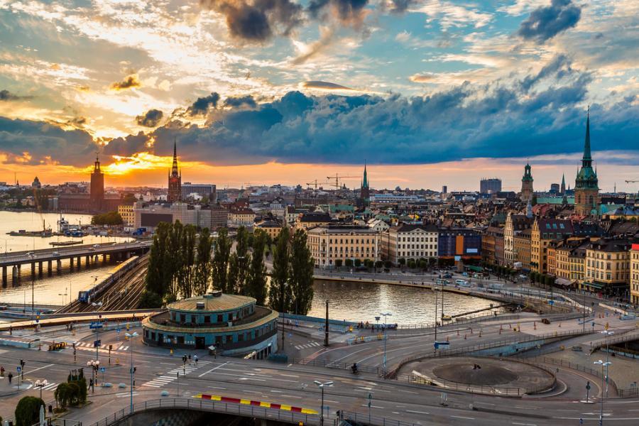 Gamla Stan, stara część Sztokholmu, Szwecja