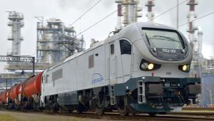 Elektryczna lokomotywa Gama Marathon podczas testów dla Lotos Kolej