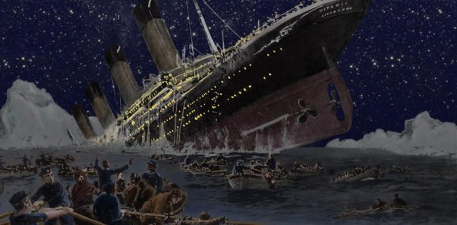 Titanic. Obraz autorstwa niemiekiego artysty Willy'ego Stowera (1864-1931)