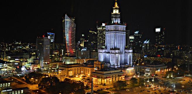 Warszawa nocą. Widok z Novotelu, fot. Dorota Kalinowska