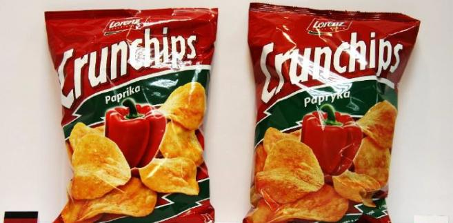 Chipsy sprzedawane w Niemczech i w Polsce. Źródło: Raport UOKiK