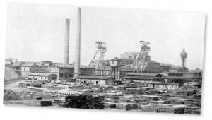 Zdjęcie kopalni Knurów z 1922 r. fot. Entrissenes Land R Kurpiunn