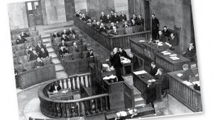 Przemówienie Eugeniusza Kwiatkowskiego w Sejmie, 1939 r. fot. NAC