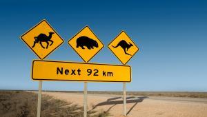 znak drogowy w Australii fot. twobluedogs