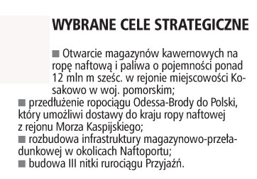 Wybrane cele strategiczne