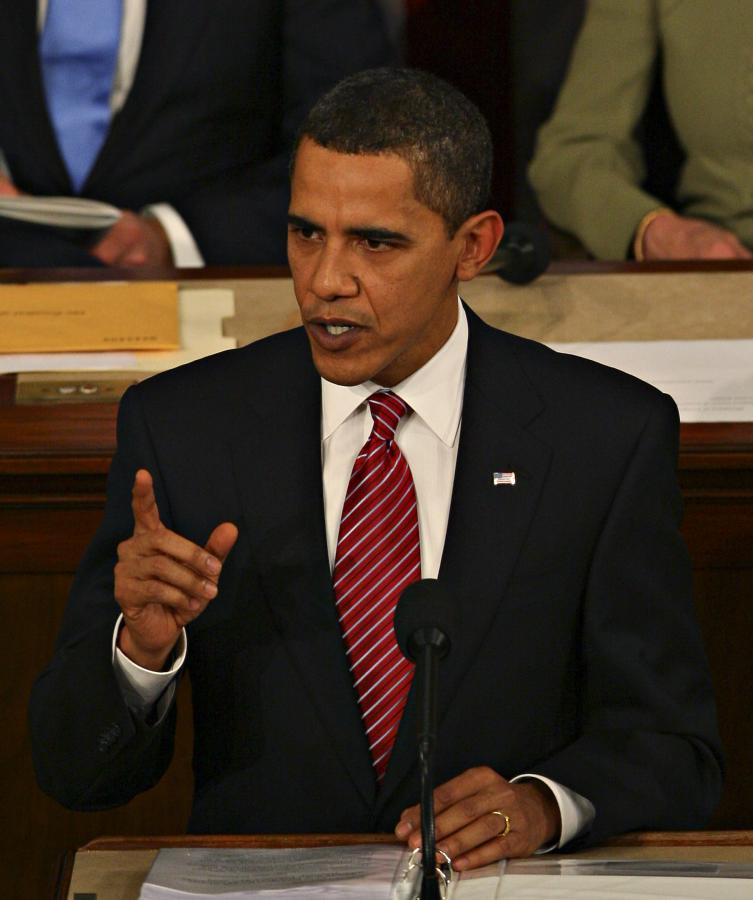 Barack Obama przemawia przed amerykańskim Kongresem. Fot. Bloomberg