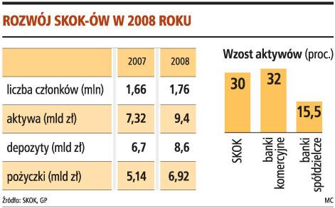 Rozwój SKOK-ów w 2008 roku