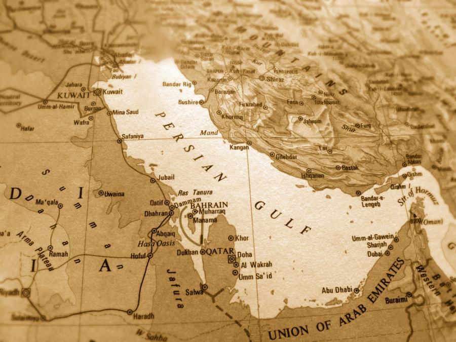 Mapa Zatoki Perskiej, fot. Sean Gladwell
